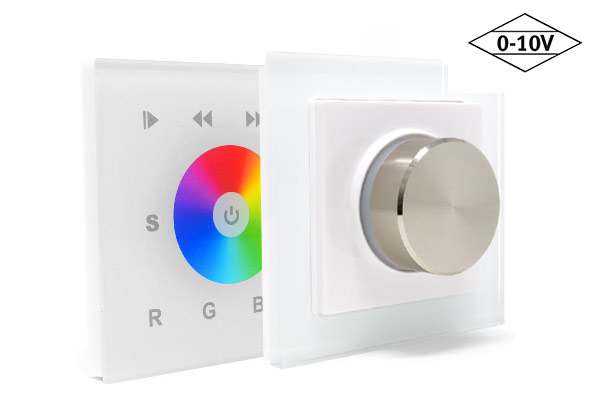 Lighting control with 0-10V wall panels