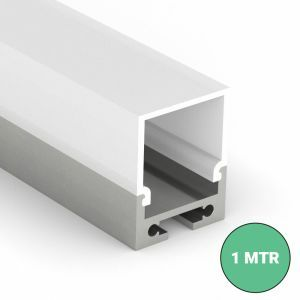 batten led profile with clip in diffuser on white background