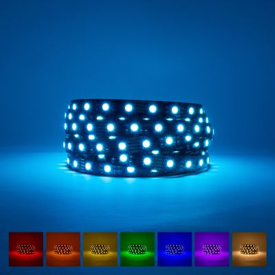 ProFlex RGB Warm White LED Strip Light Black PCB 24V 96W IP20