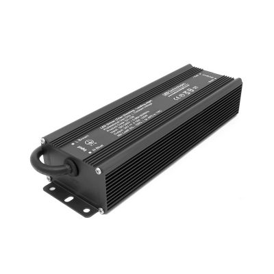 matte black 100w 24V Dimmable LED Driver on white background