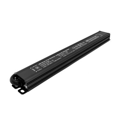 Matte black 30W dimmable led driver on white background