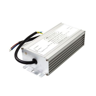 brushed metal 60w 12V LED driver on white background