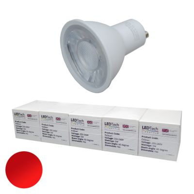 Benchmark GU10 Red 620-625nm Dimmable
