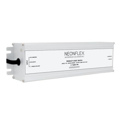 Brushed metal neolinear 200w 24v led driver on white background