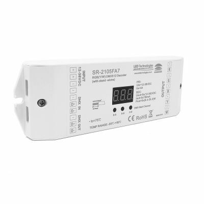 Sunricher DMX Five Channel Constant Current DMX Decoder