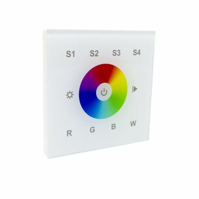 Sunricher RF 1 Zone RGBW Wall Panel White (Mains Voltage)