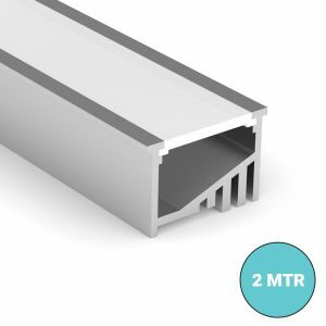2 meter Recessed Angle LED Strip Profile Close Up