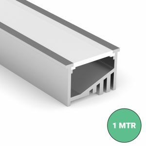 1 meter Recessed Angle LED Strip Profile Close Up