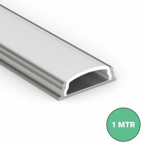 bendable led profile with diffuser on white background